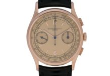 Vacheron Constantin Les Collectionneurs - 18k pink gold 30-minute counter chronograph wristwatch, 1941