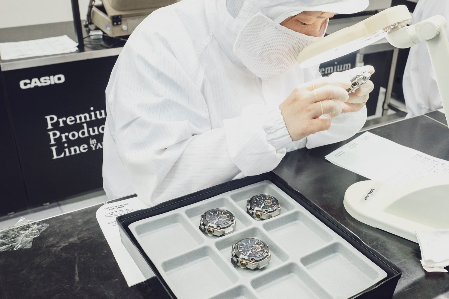 While at the G-Shock Premium Product Line factory in Yamagata (Image © Revolution)
