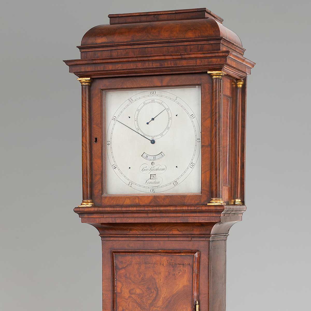George Graham regulator clock with deadbeat escapement