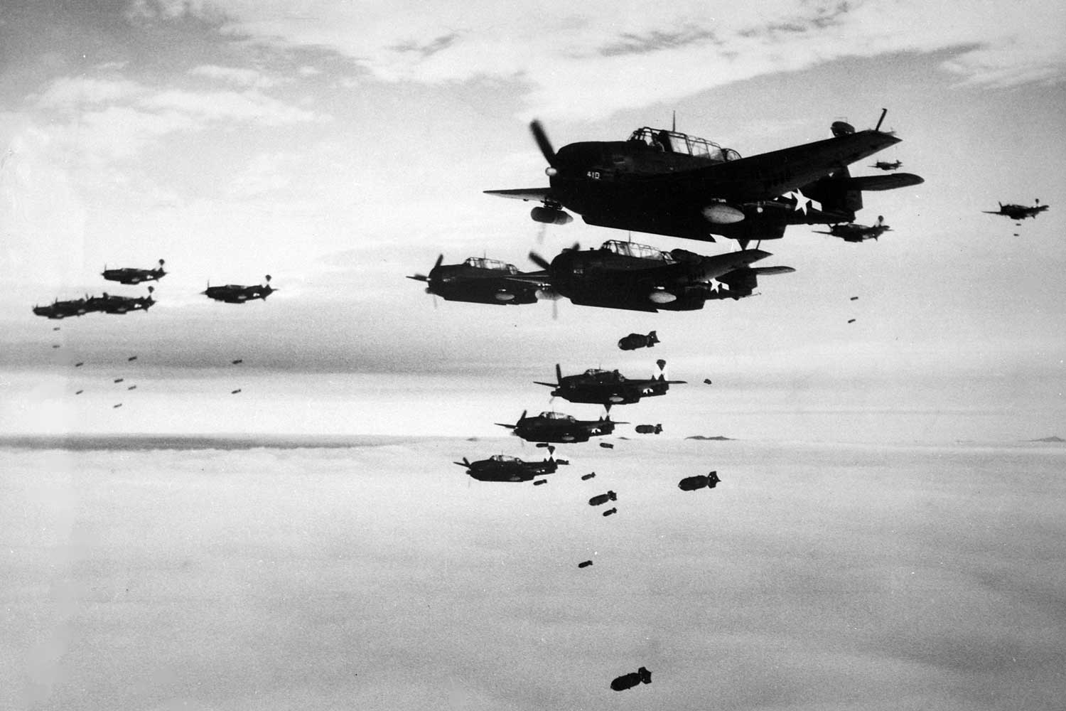 The Second World War was total, modern war fought in every domain, on land, over the sea and in the air
