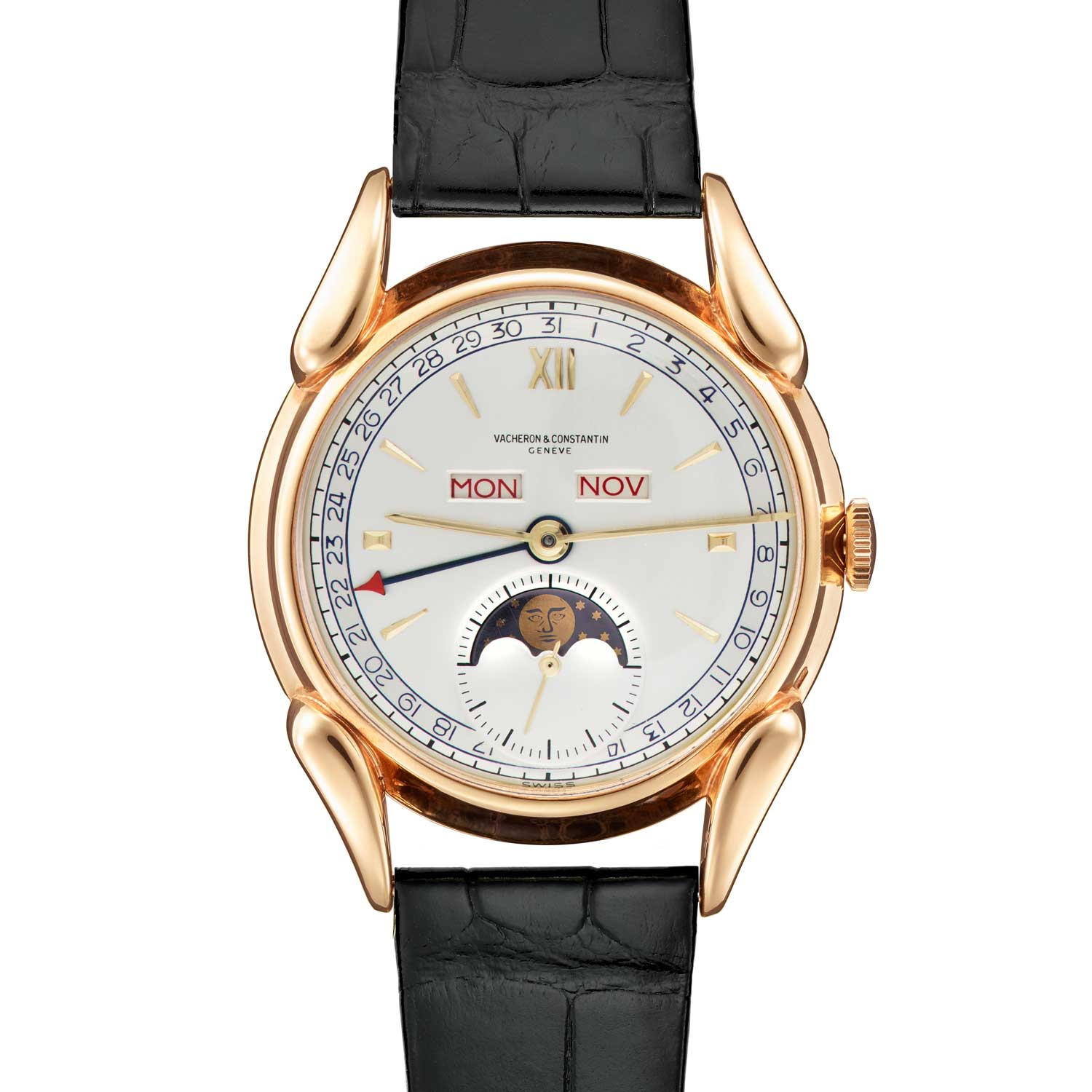 Vacheron Constantin Les Collectionneurs - 18k yellow gold complete calender with moon-phases, 1949 (No.11146)