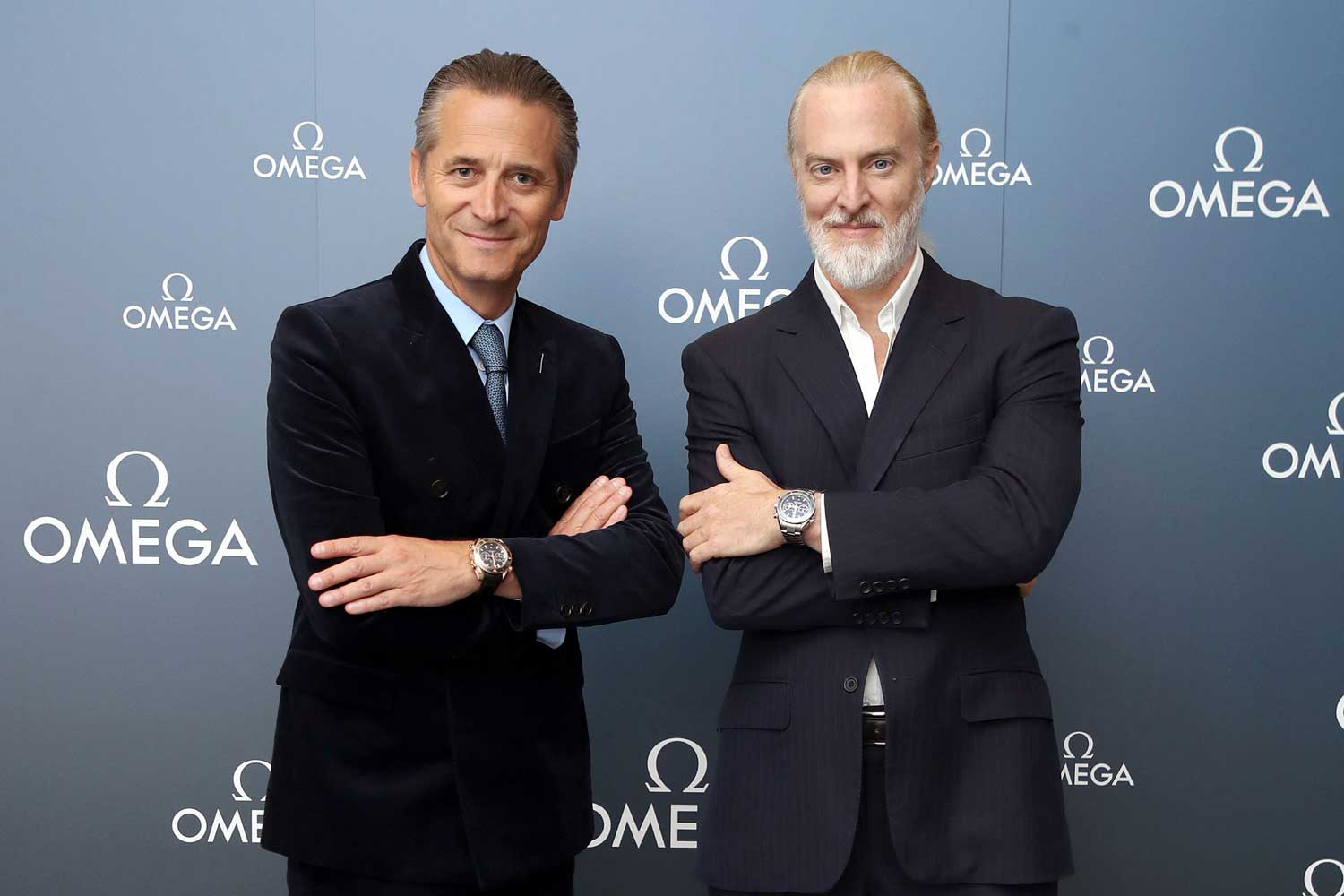 President and CEO of OMEGA, Raynald Aeschlimann, and Victor Vescovo