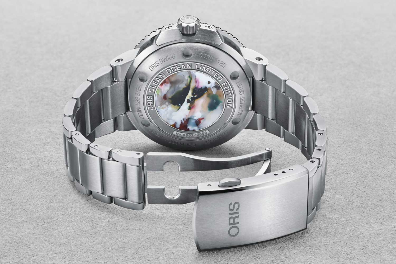 Oris Clean Ocean Limited Edition features a medallion of recycled plastic on its caseback