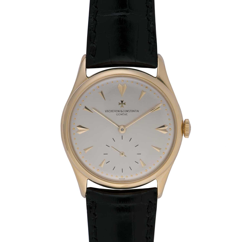 Vacheron Constantin Les Collectionneurs - 18k yellow gold wristwatch, 1954