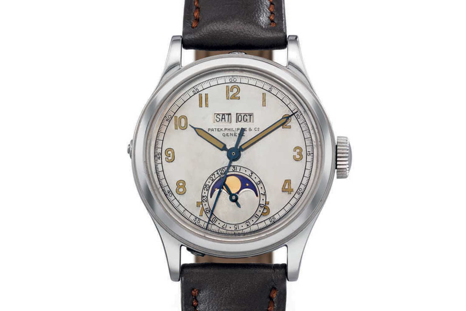 Ref. 1591 in stainless steel, Christie's 2007 auction