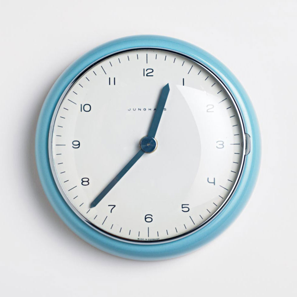 Max Bill for Junghans wall clock from 1954