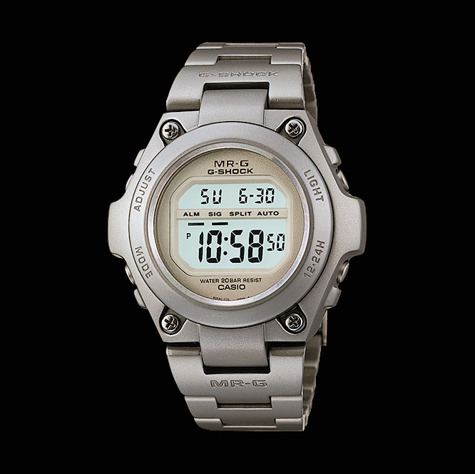 The 1996 all titanium G-Shock MRG-100T