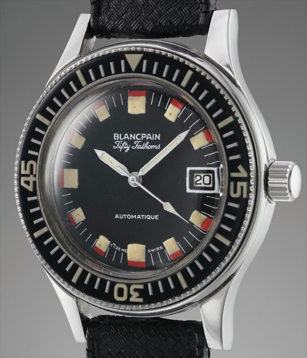 A military-issue Blancpain Baracuda from the 1970s, sold by Phillips Watches at their Geneva Watch Auction: Seven in 2018 (Image: PhillipsWatches.com)