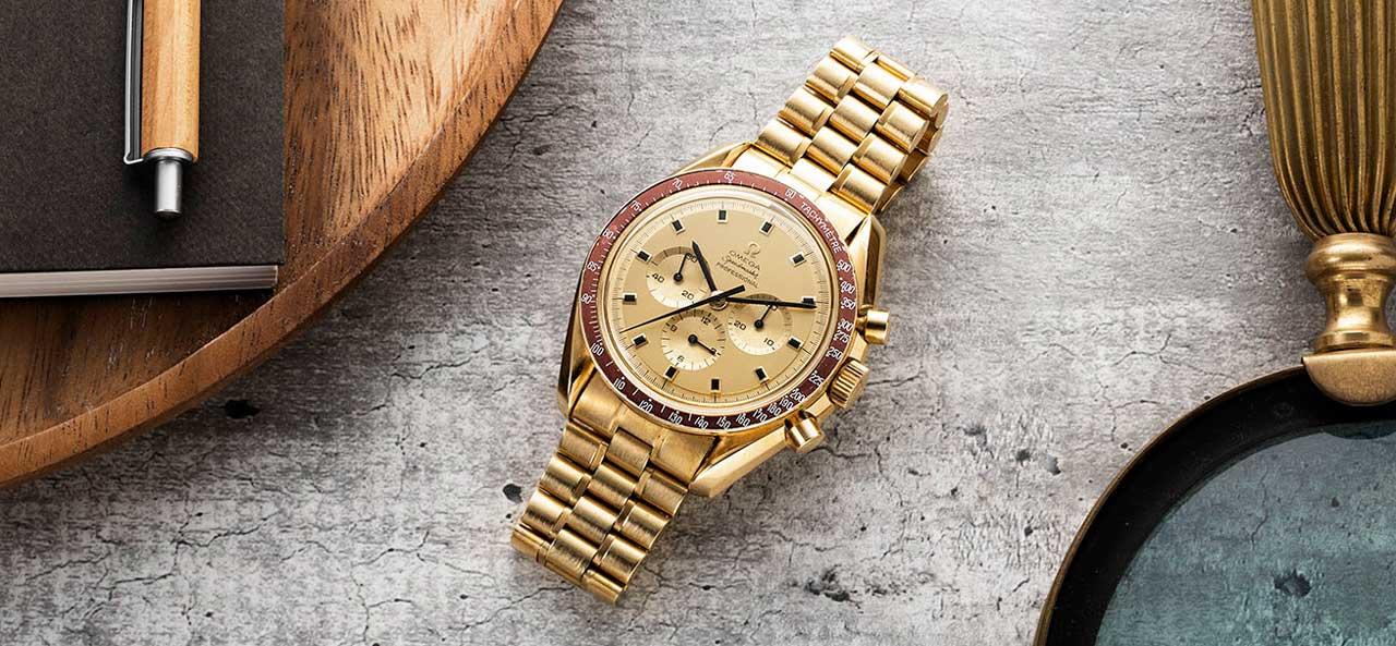 Tribute to Apollo 11, Omega Speedmaster in gold