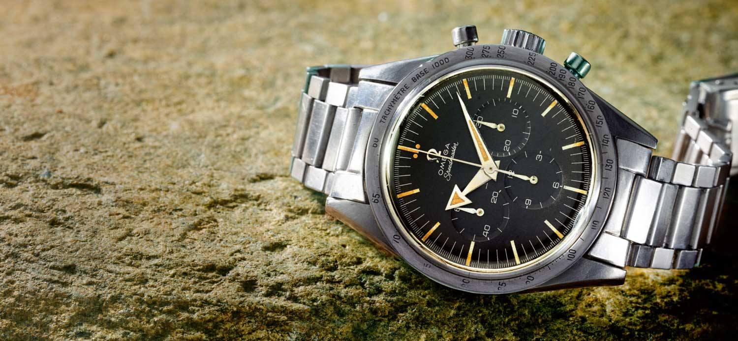 Lot 10: Speedmaster ref. 2915-1 'broad arrow', in stainless steel, made in 1958