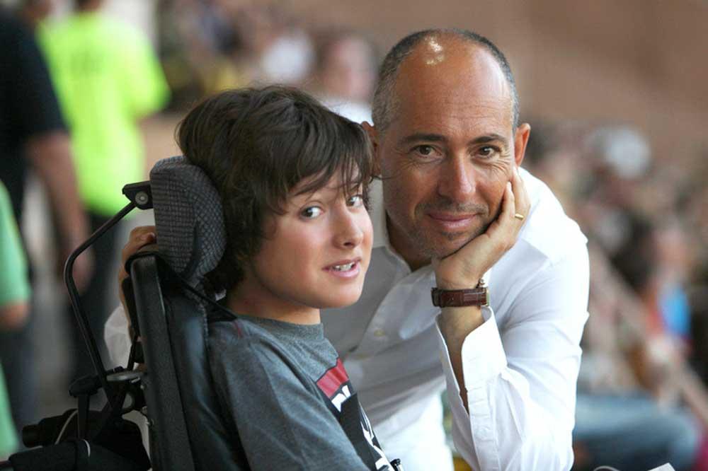 Luc Pettavino and his son