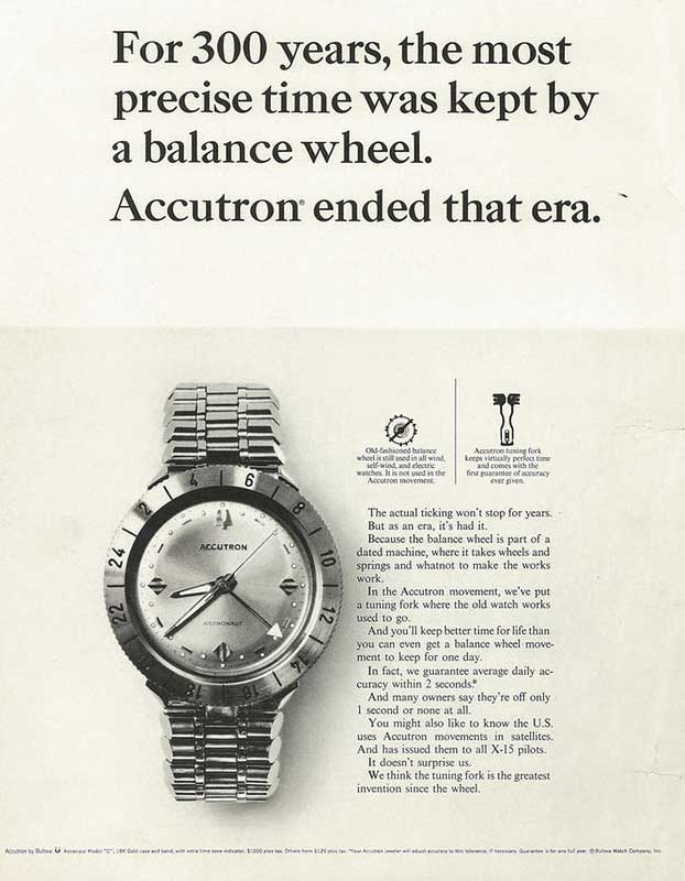 The Accutron represented a revolutionary advance in timekeeping