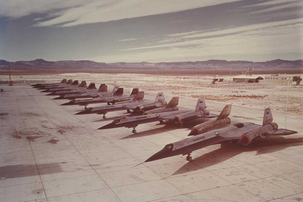 The A-12 spy plane precedes the SR-71 Blackbird and was the fastest plane in its time, capable of speeds over Mach 3