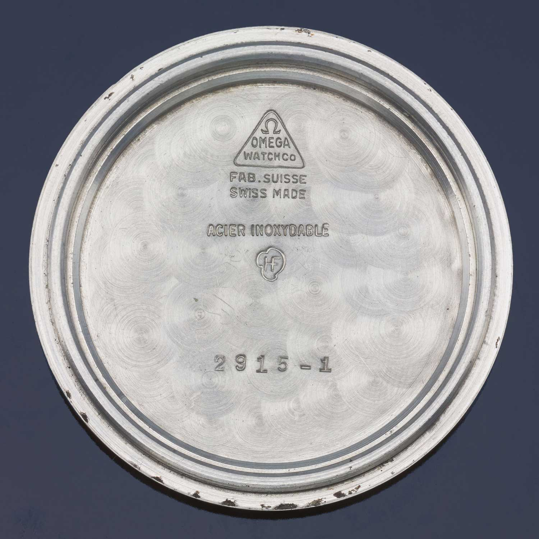Lot 10: Speedmaster ref. 2915-1 'broad arrow', in stainless steel, made in 1958