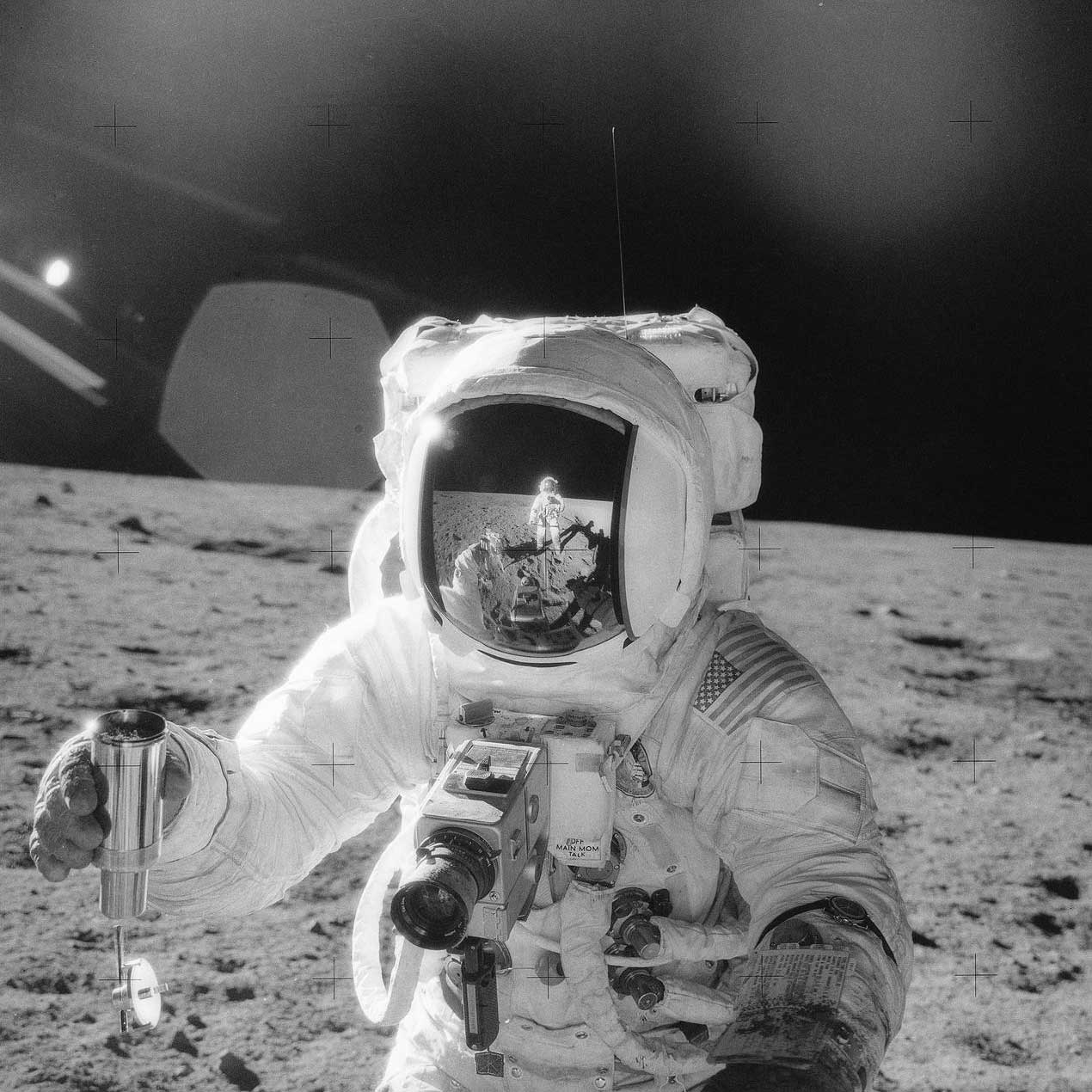 Bean, photographed on the moon by Conrad with his 105.012 on his left wrist