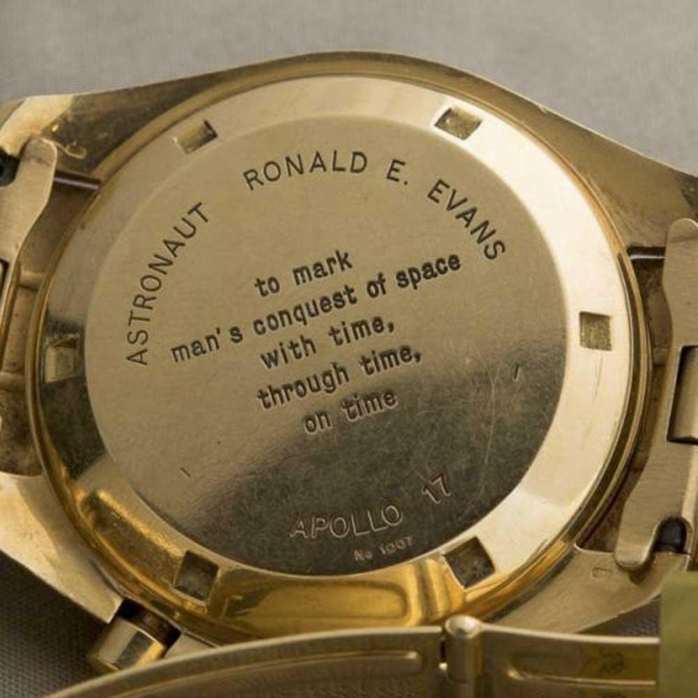 Ronald Evans of Apollo 17's BA 145.022 (Image: Christie's)