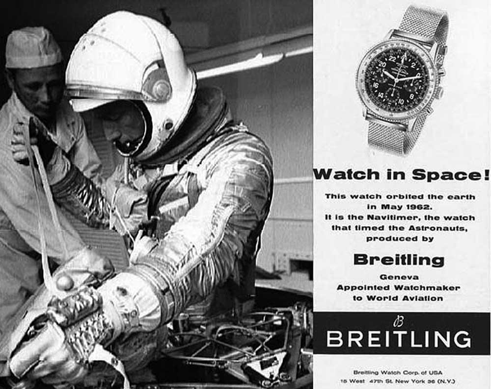 Breitling Cosmonaute advertisement