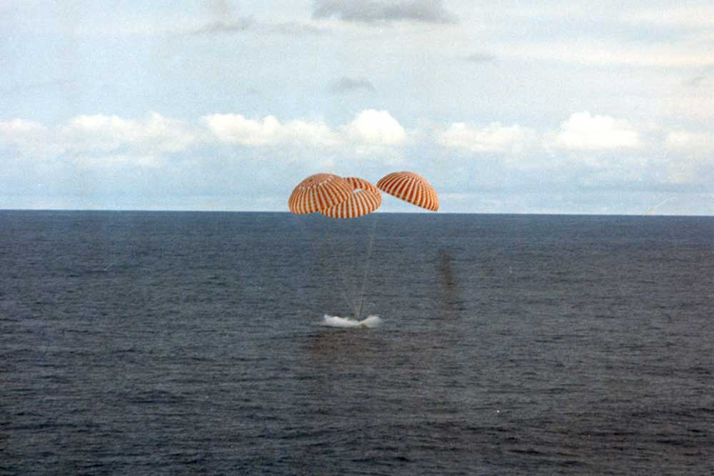 The Apollo 13 Command Module splashdown (Image: NASA)