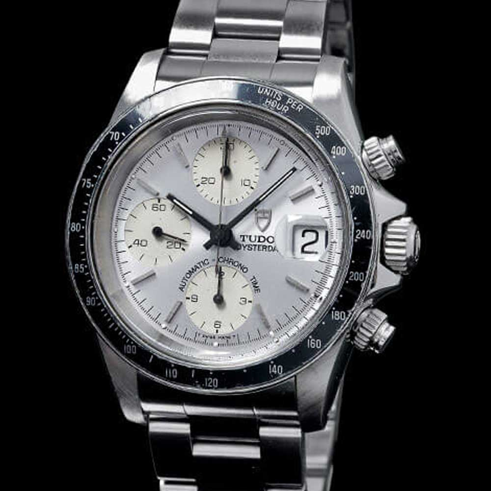 Ref. 79260 – Prince Oysterdate with black aluminum tachymeter bezel