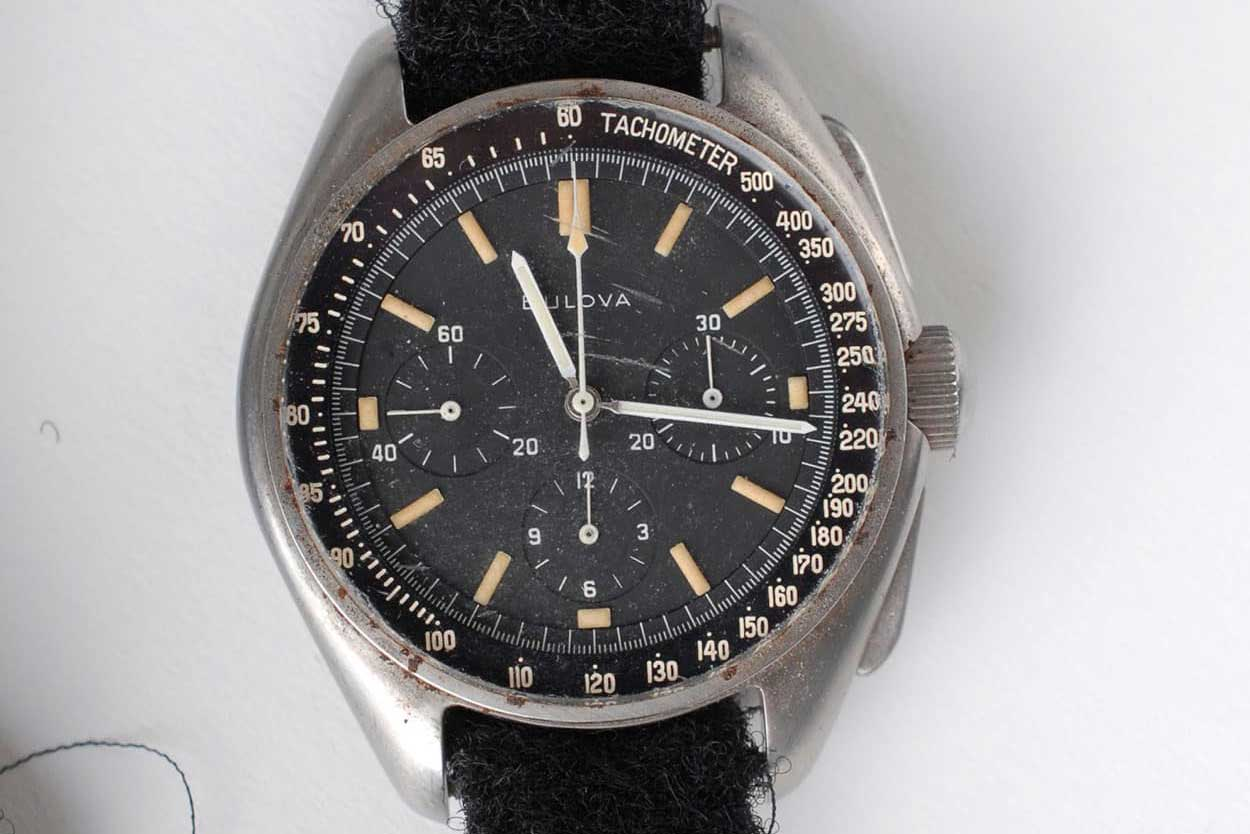 The prototype Bulova chronograph used as a backup by Scott when his Speedmaster was faulty (Image: Fratello)