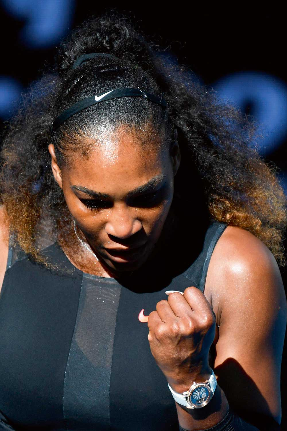Serena Williams wears a Millenary at her 23rd major victory on the tennis court
