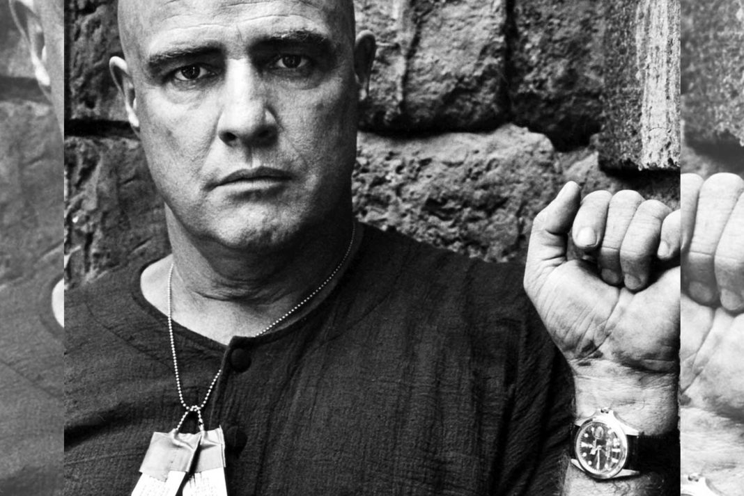 Marlon Brando wore a Rolex GMT Master with its bezel missing in the 1979 film Apocalypse Now