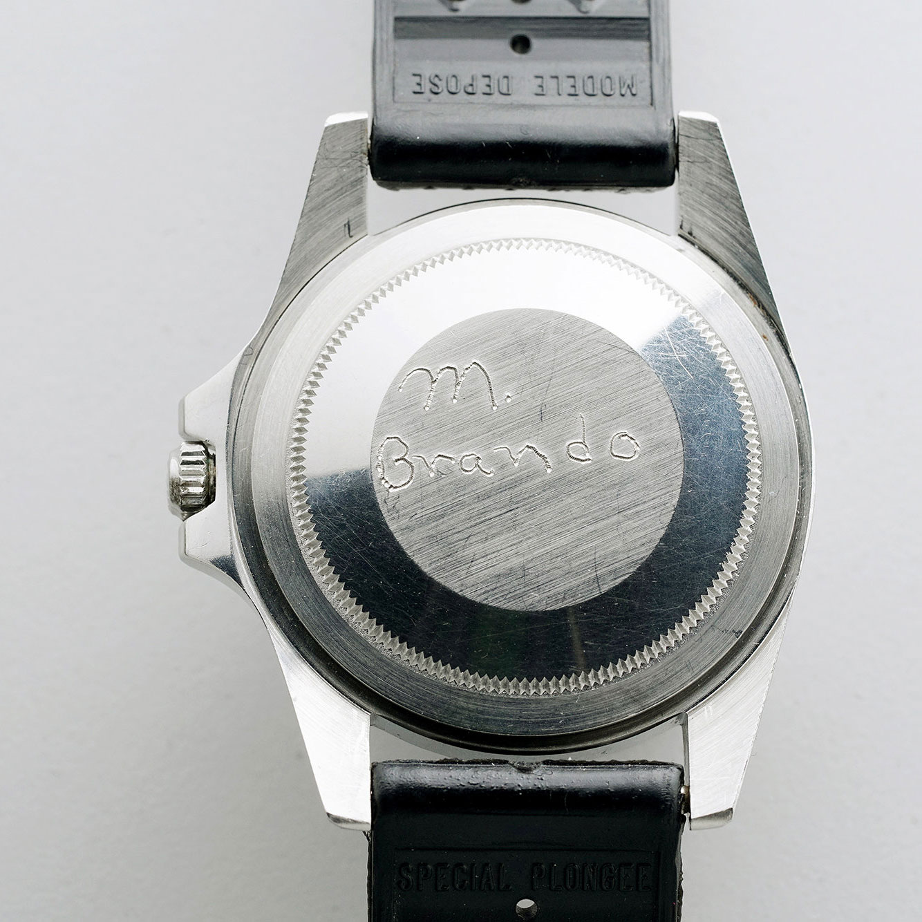 Caseback of Marlon Brando's Rolex GMT-Master 1675 from 'Apocalypse Now' (Image: phillips.com/watches)