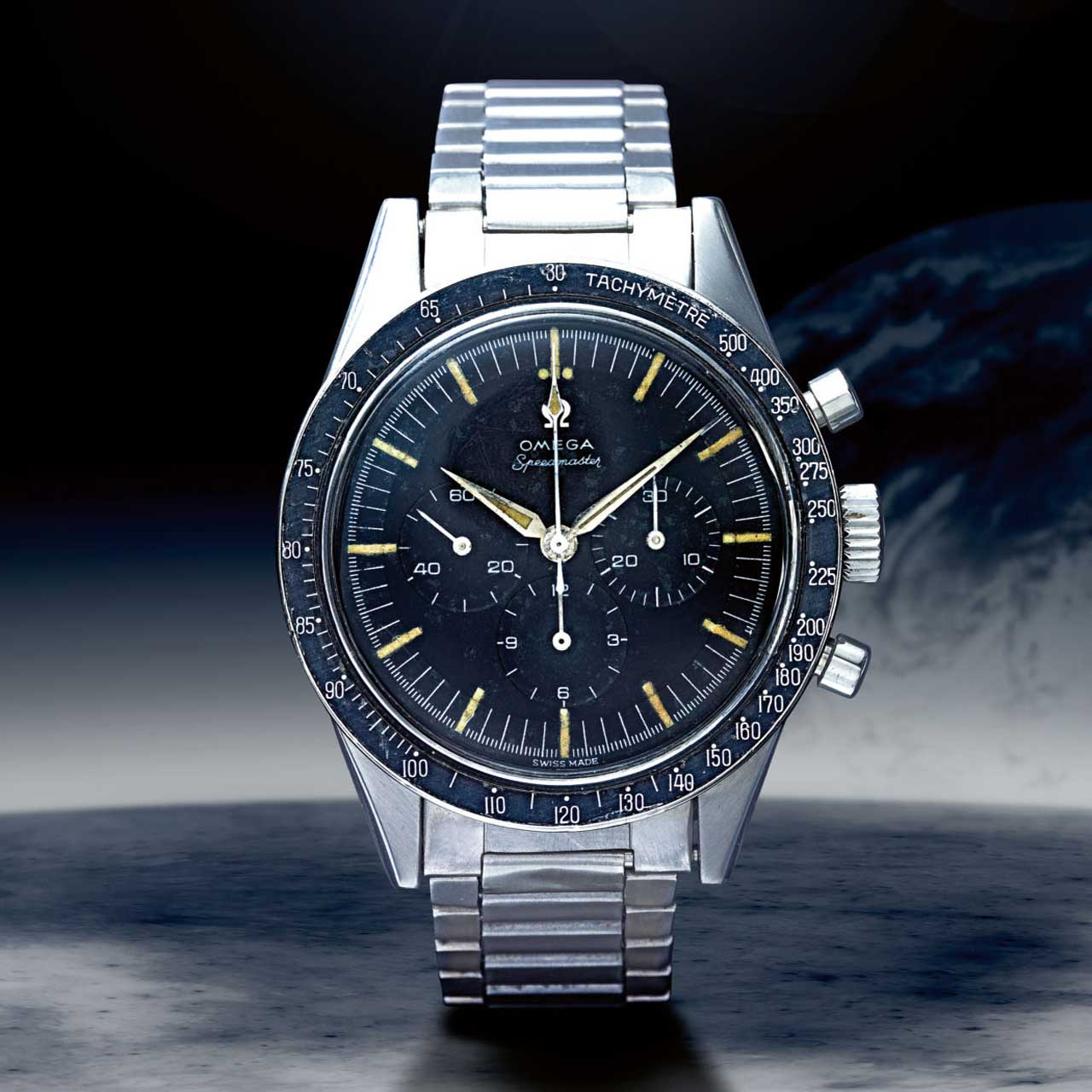Lot 22: Speedmaster ref. 105.002-62 'FAP', in stainless steel, made in 1963