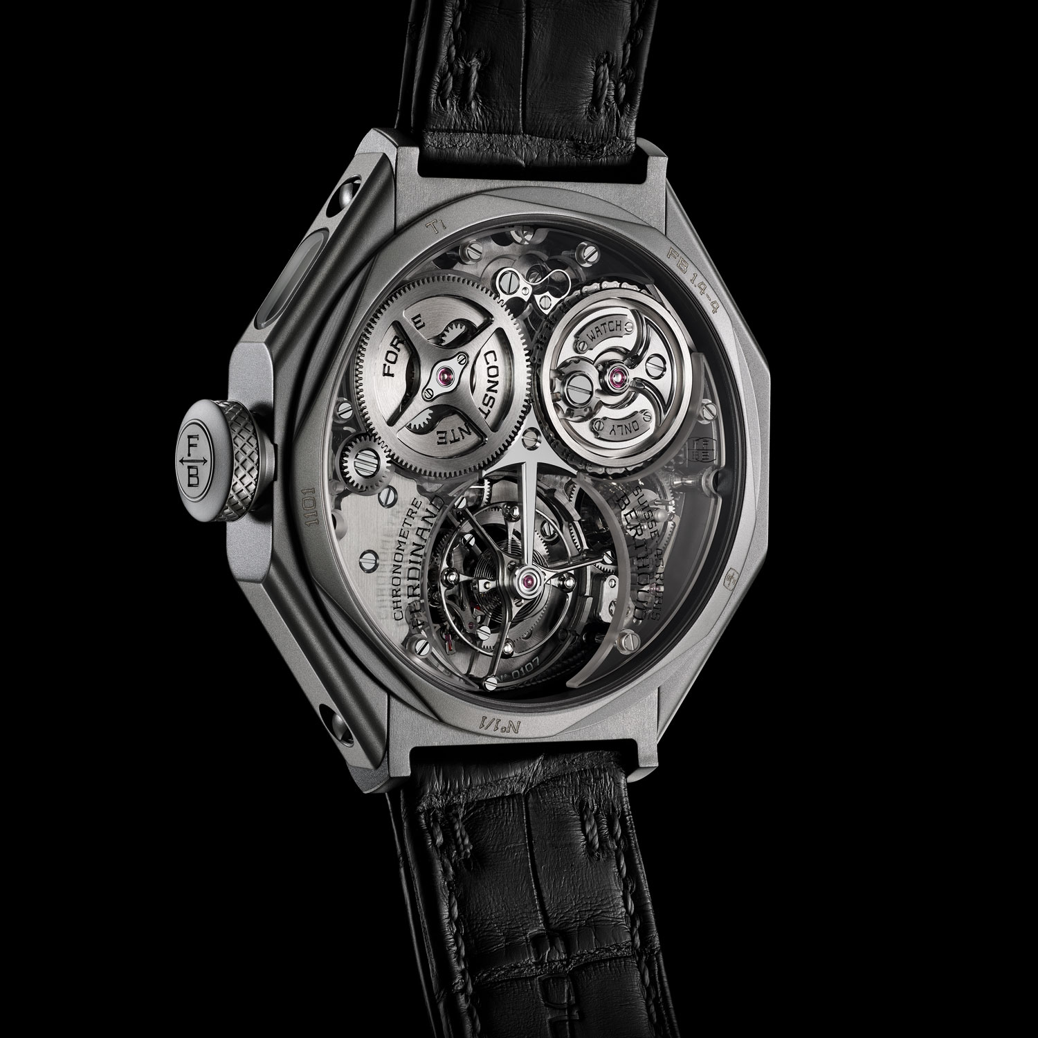 "Ferdinand Berthoud Chronomètre Fb 1 ""Night Star"" Unique Piece For Only Watch"