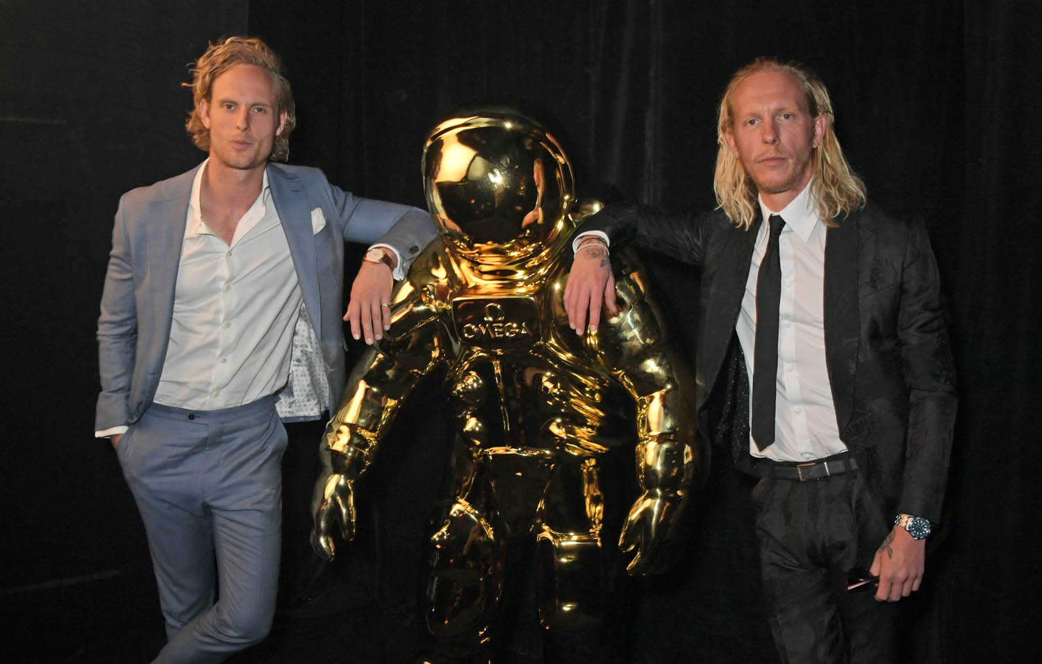 LONDON, ENGLAND - JULY 11: Jack Fox and Laurence Fox attend an OMEGA dinner celebrating the 50th anniversary of the Moon Landing at Television Centre on July 11, 2019 in London, England. (Photo by David M. Benett/Dave Benett/Getty Images for OMEGA)