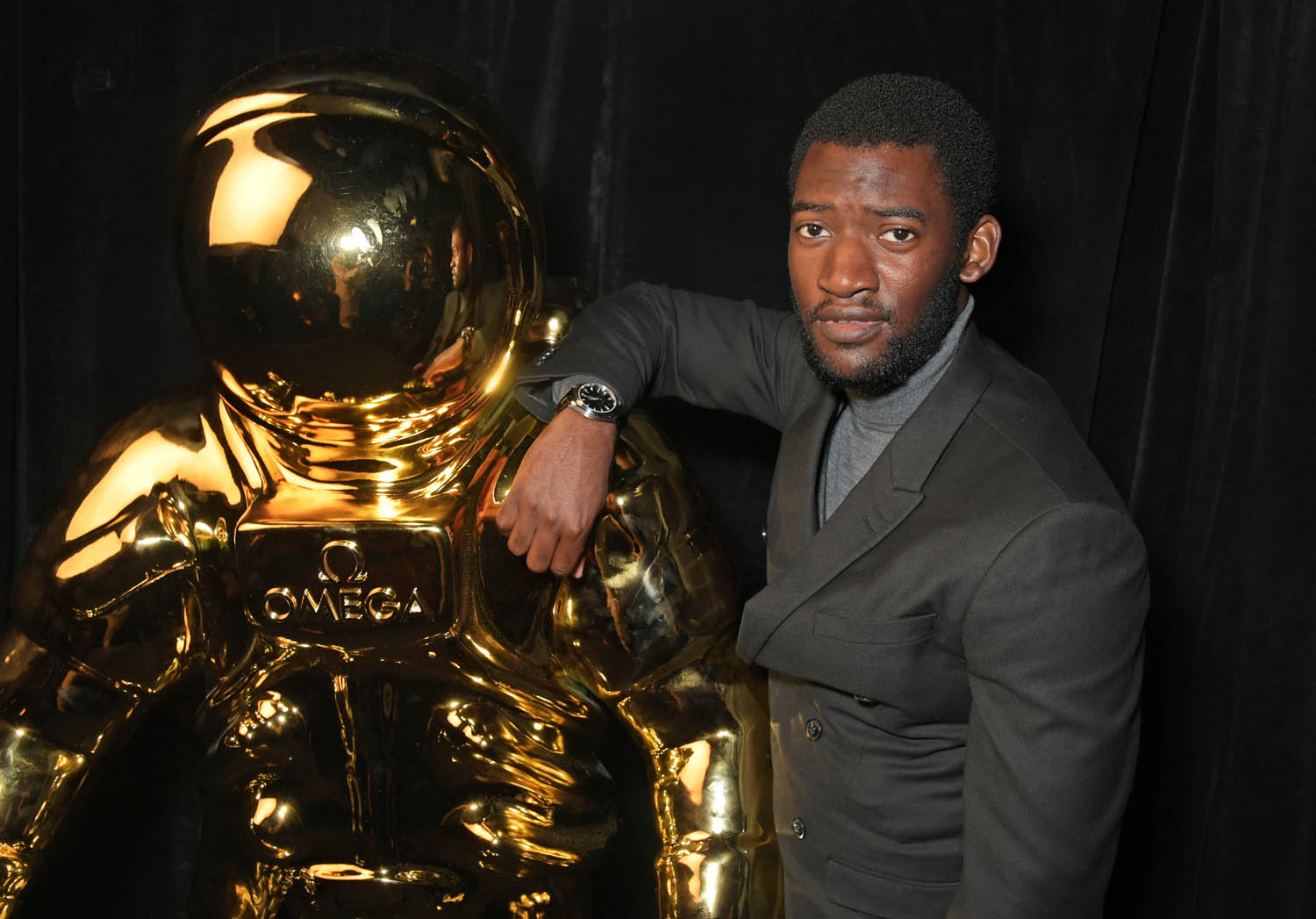LONDON, ENGLAND - JULY 11: Malachi Kirby attends an OMEGA dinner celebrating the 50th anniversary of the Moon Landing at Television Centre on July 11, 2019 in London, England. (Photo by David M. Benett/Dave Benett/Getty Images for OMEGA)