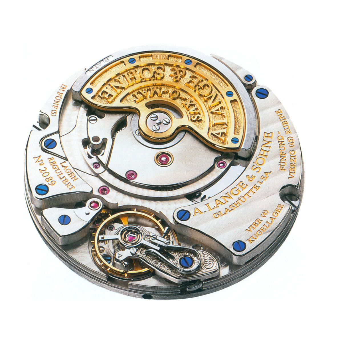 The Lange Calibre L921.4, a variant of the Lanagematik Sax-0-Mat with the big date function