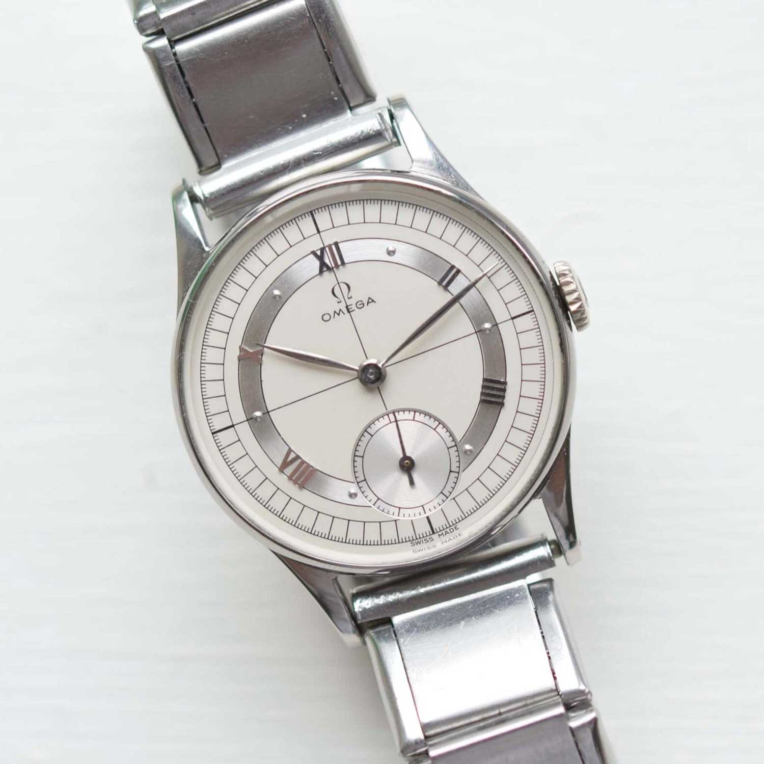 """1940's Omega """"Sector"""" Wristwatch. Image: Vision Vintage Watches"""