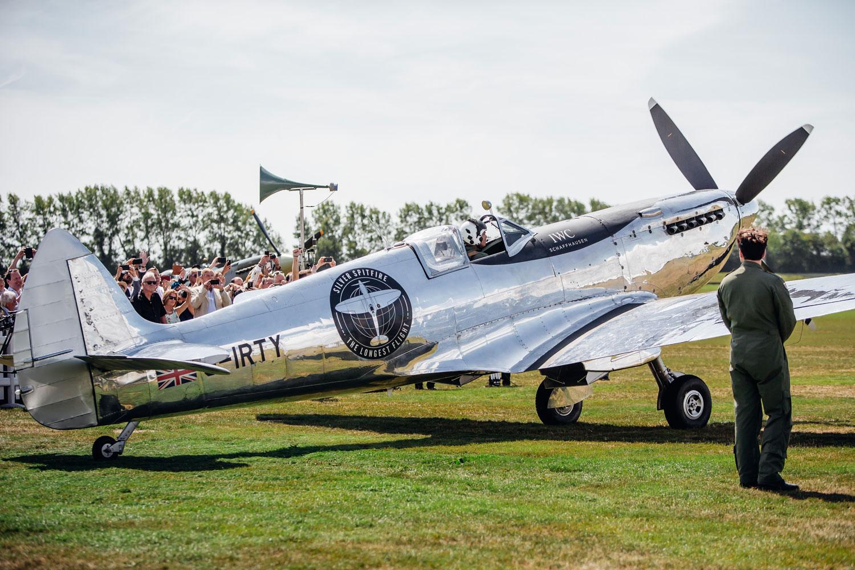 IWC Celebrates The Silver Spitfire's Take-Off