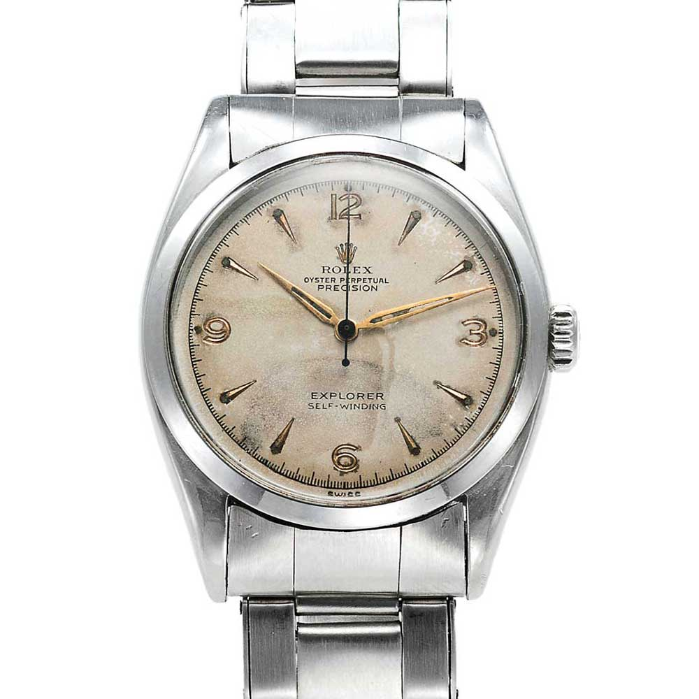 Rolex Ref. 6298 with matte silver dial