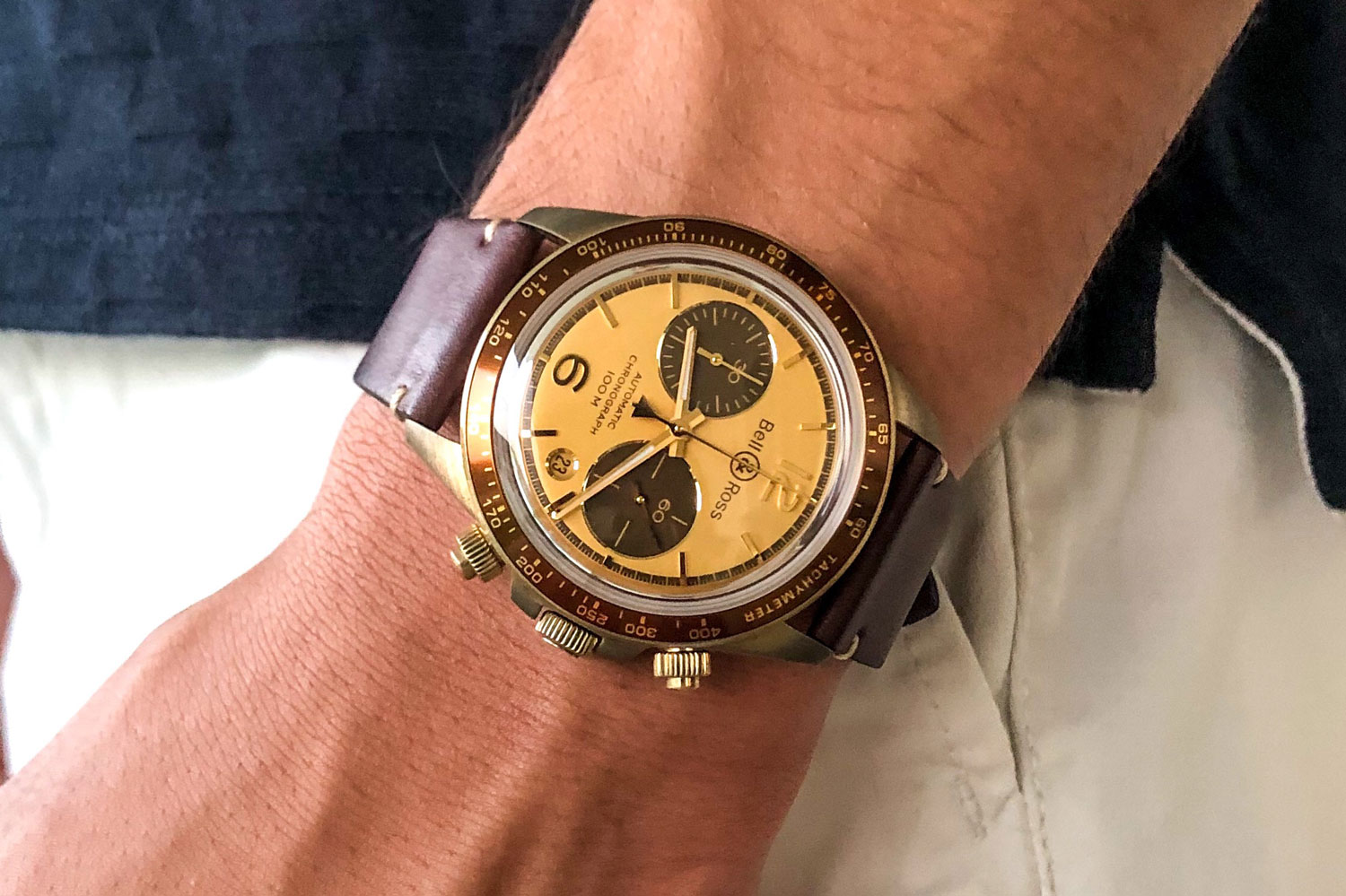 Azzam Jamil (a.k.a. @tourbillonlifestyle) rocking his El Mirage chronograph over the summer months of 2019