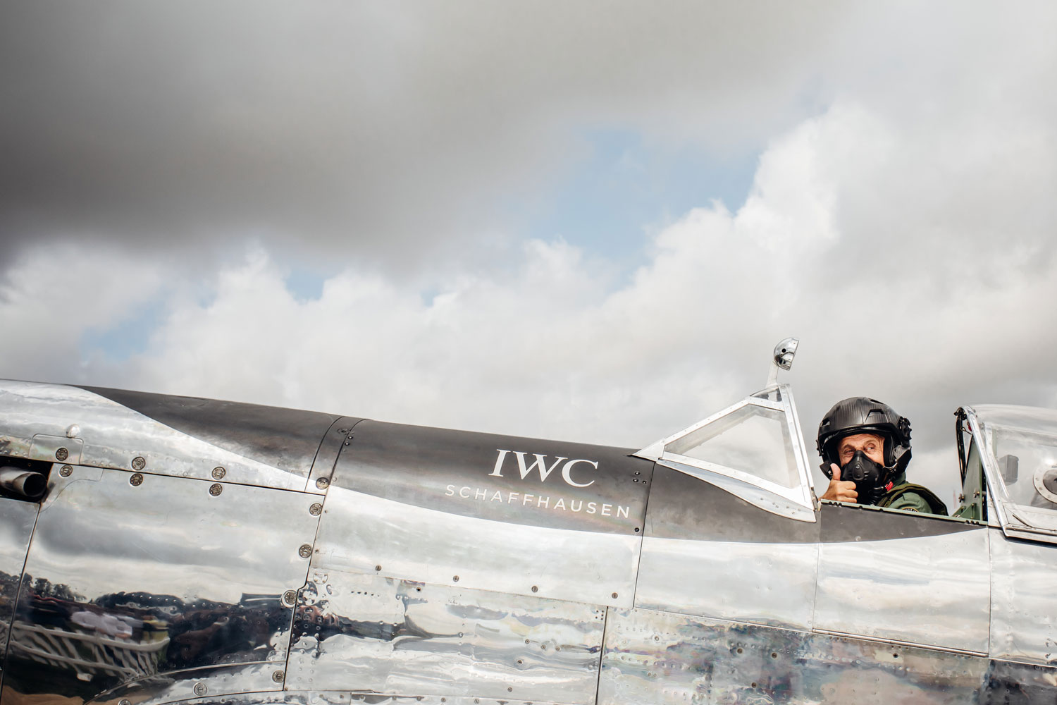 IWC Celebrates The Silver Spitfire's Take-Off
