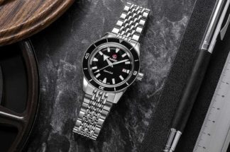 "Rado  x  The  Rake  &  Revolution Captain  Cook  ""Ghost  Captain"" (Image © Revolution)"