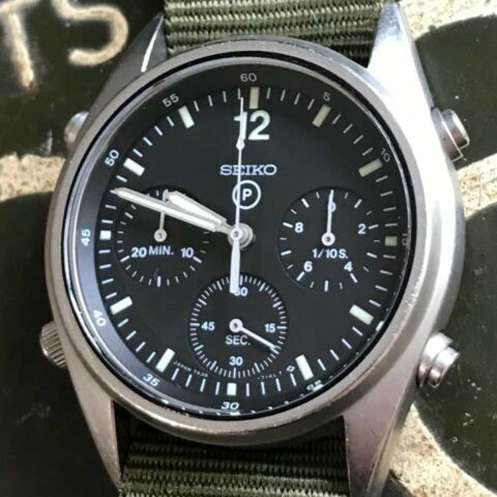 Seiko 'Circle P' chronograph issued to British RAF pilots