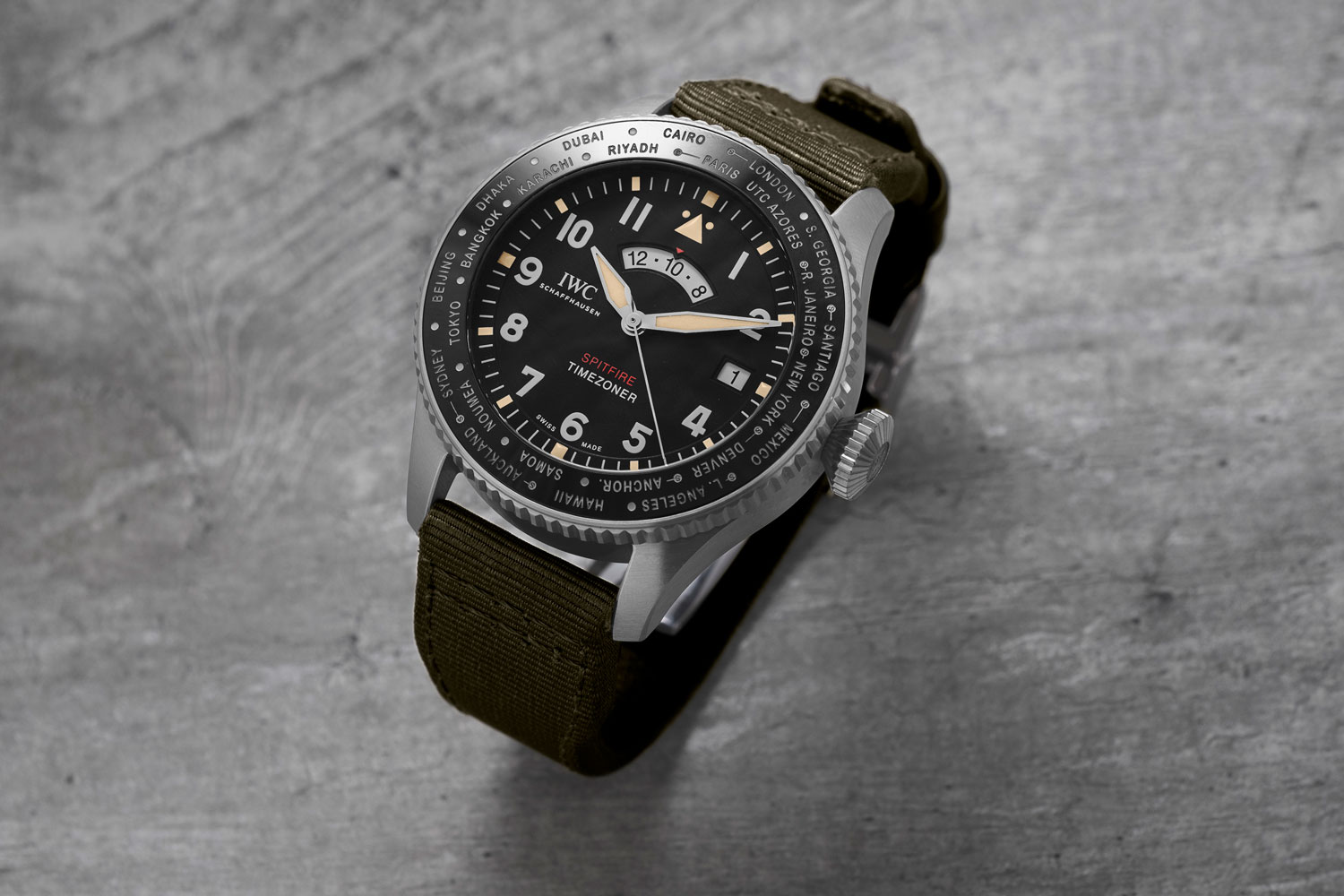 "The IWC Pilot's Watch Timezoner Spitfire Edition ""The Longest Flight"" (Image © Revolution)"