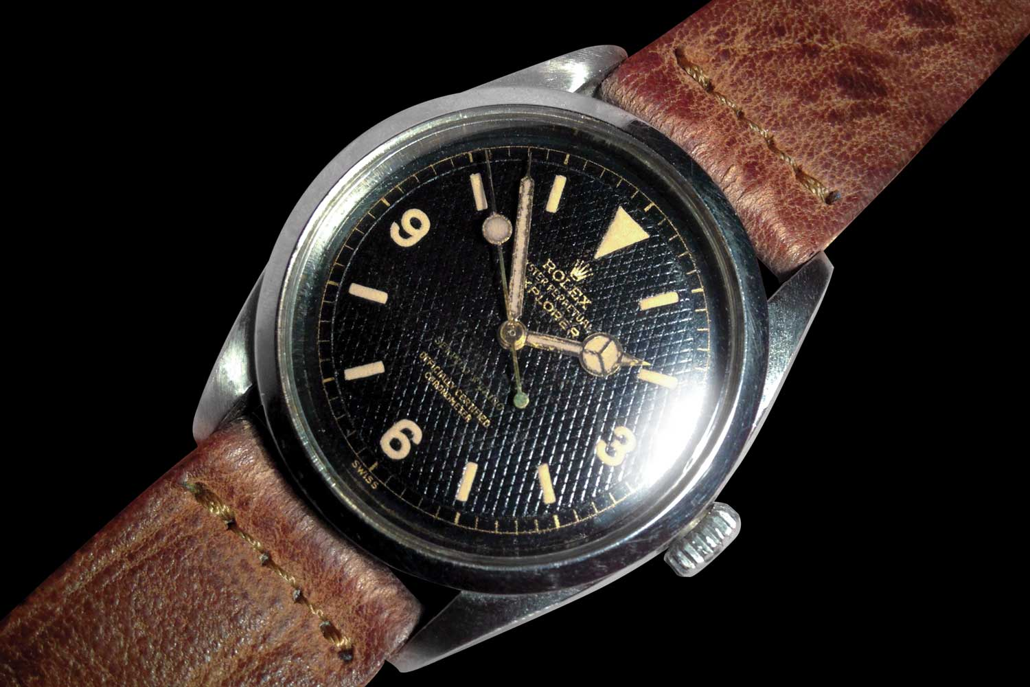 A rare ref. 6350 with honeycomb gilt dial customised for Serpico Y Laino, a Rolex retailer in Caracas, Venezuela