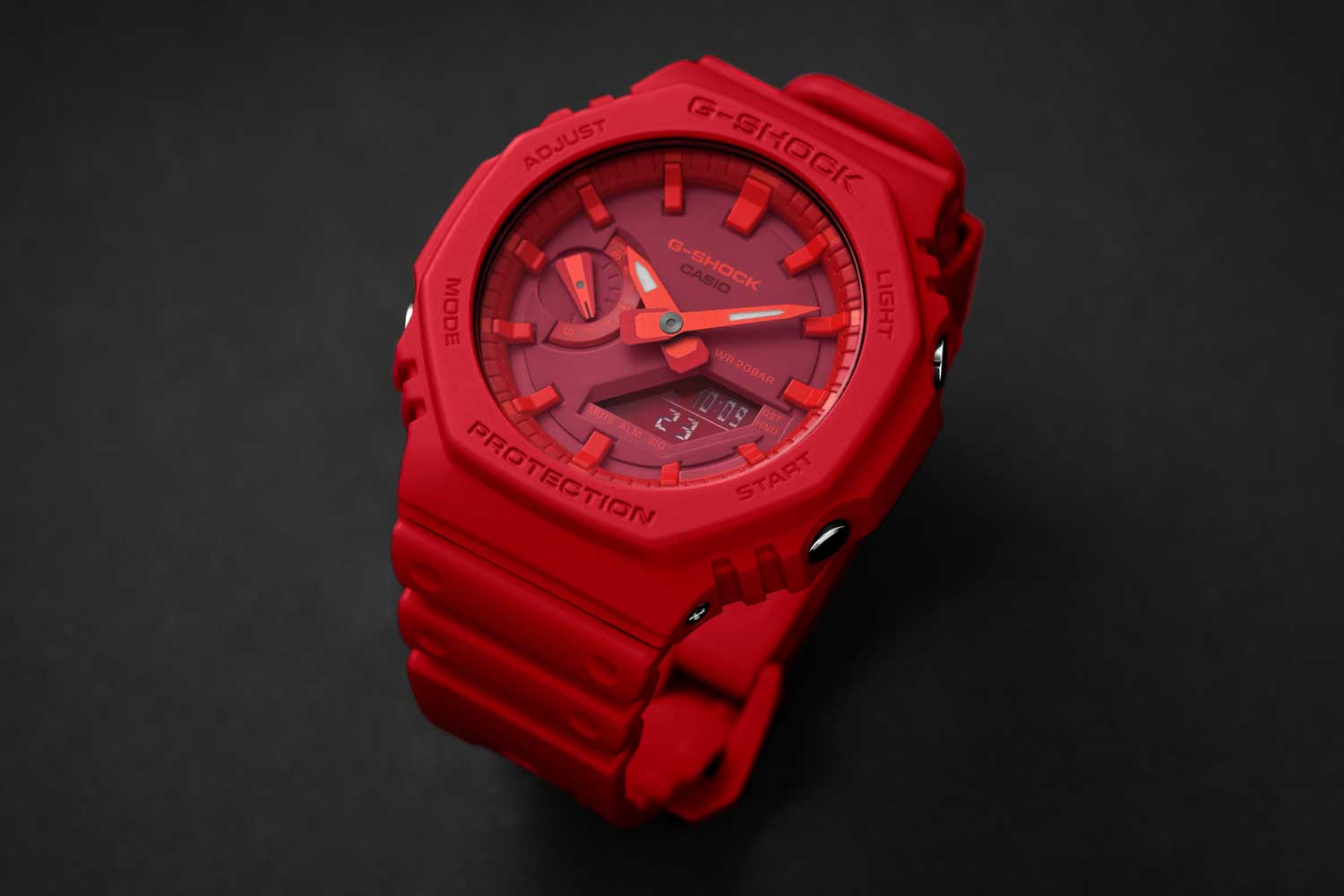 The Casio G-Shock GA-2100 in all red (Image © Revolution)