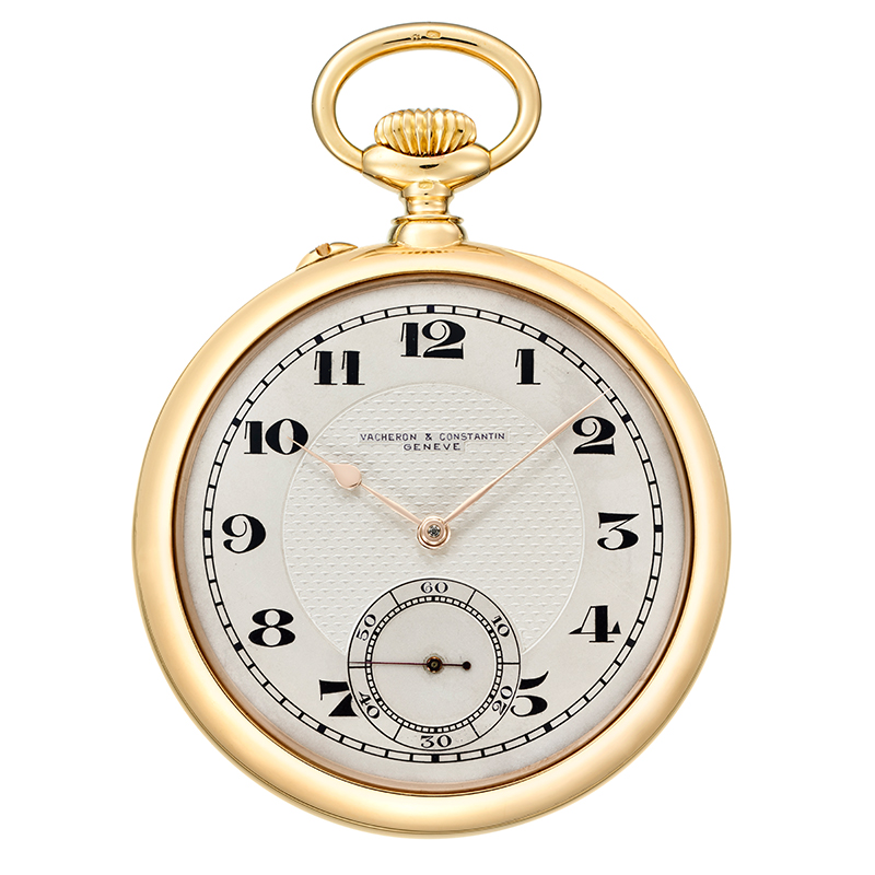 18K yellow gold chronometer pocket watch from 1922 in the Les Collectionneurs collection