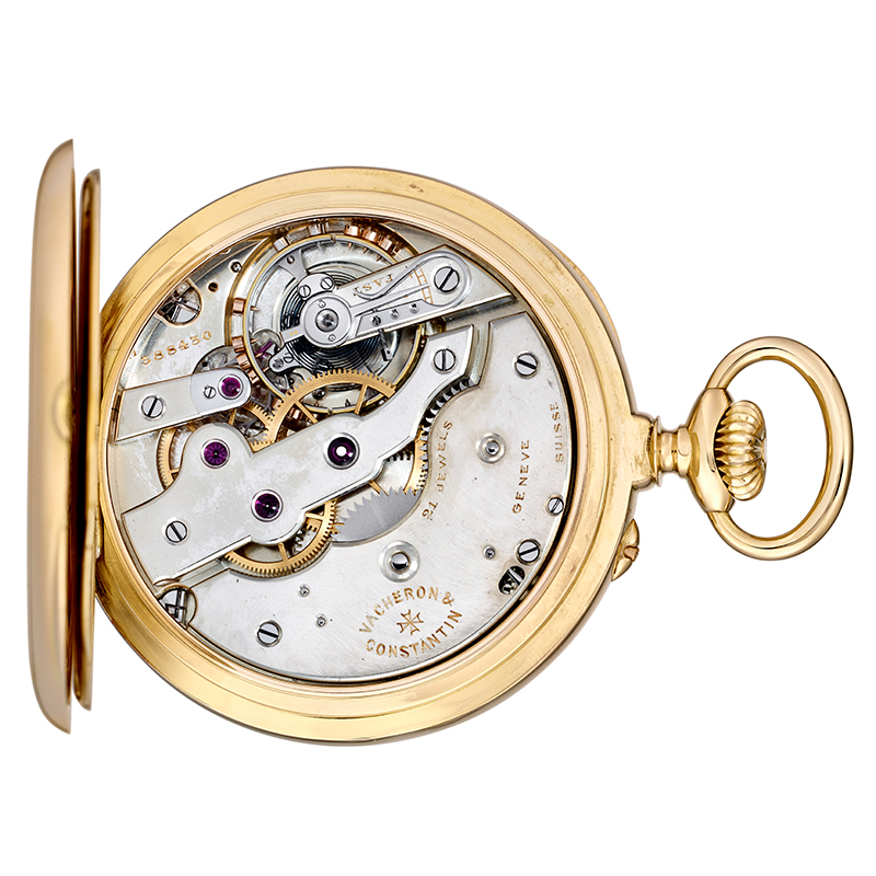 The calibre, with a Swiss lever escapement and Guillaume balance, in the 1922 pocket watch