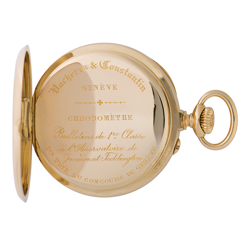 Inscription on the pocket watch in the Les Collectionneurs collection