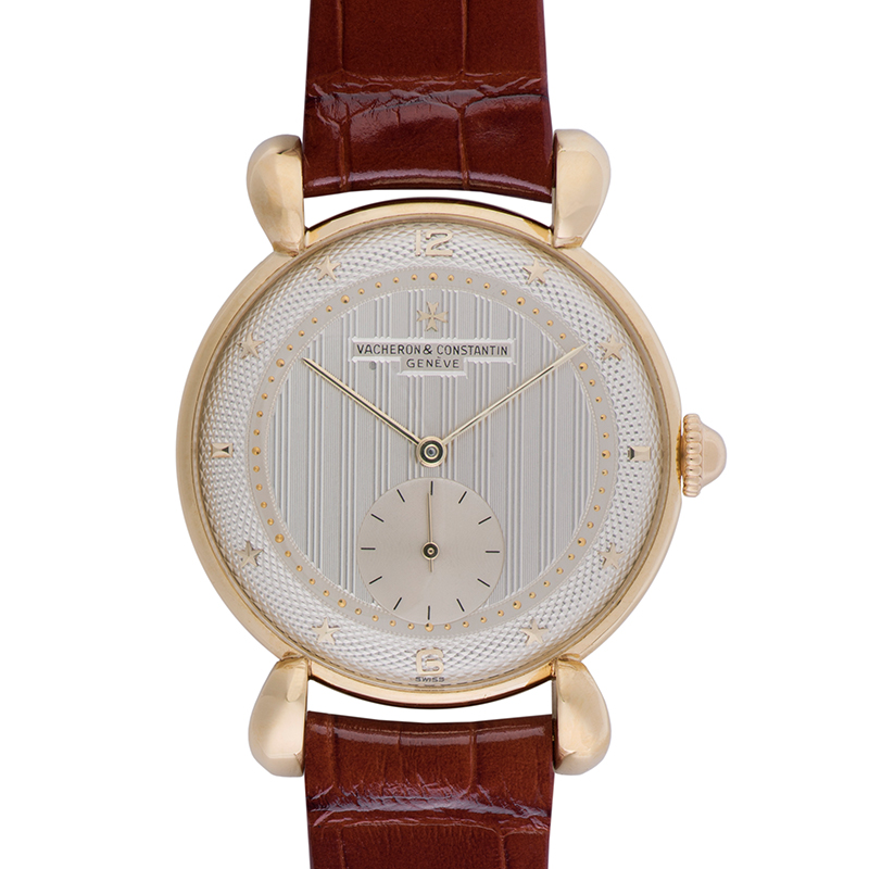 18K yellow gold wristwatch from 1948, restored for Les Collectionneurs collection