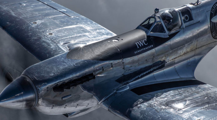 """The """"Silver Spitfire"""", with the new G-IRTY registration, has been taking off for flight tests in the month before embarking on its unprecedented flight around the world in August 2019 (Photo by John M. Dibbs)."""