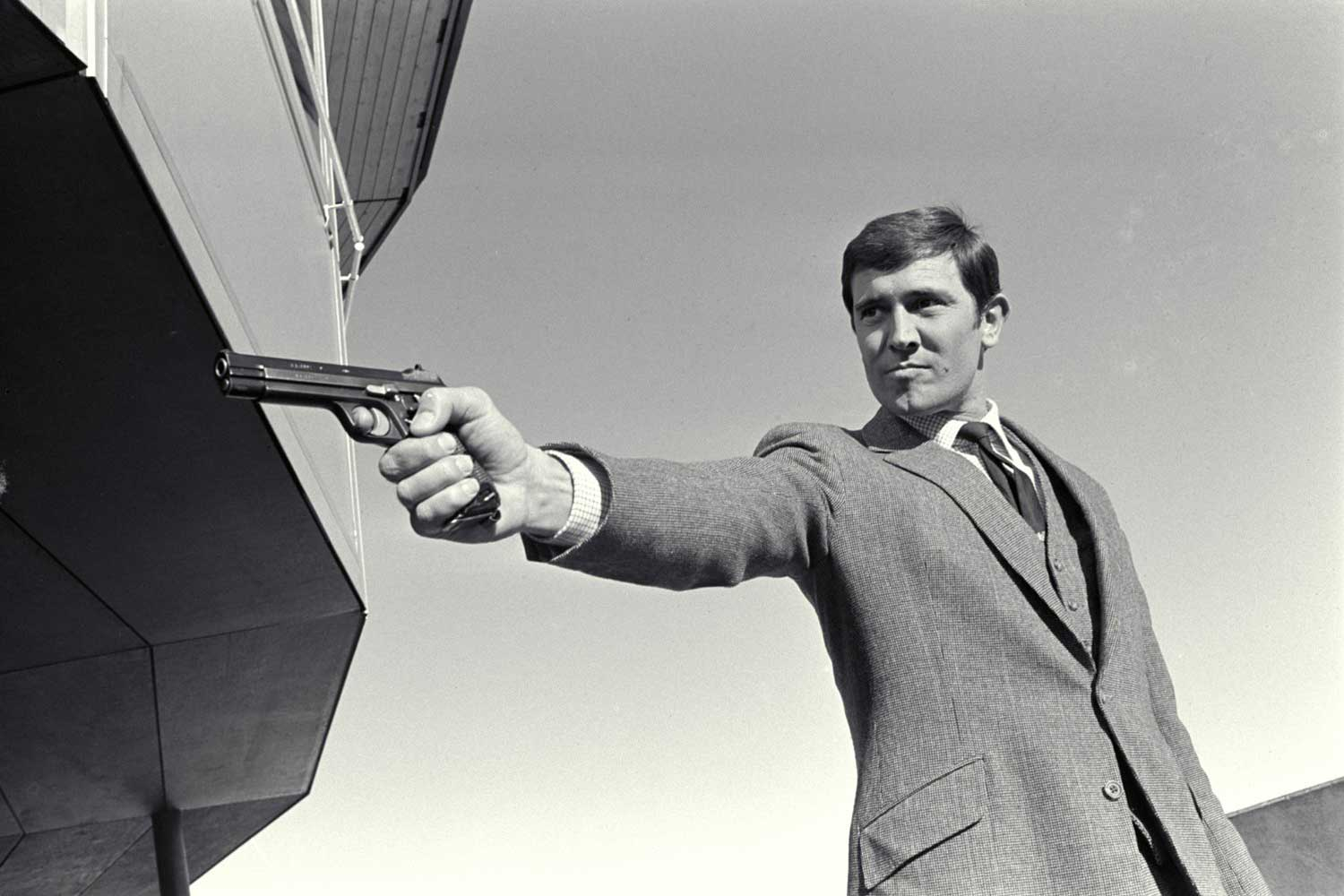 George Lazenby as James Bond in the 1969 film, On Her Majesty's Secret Service