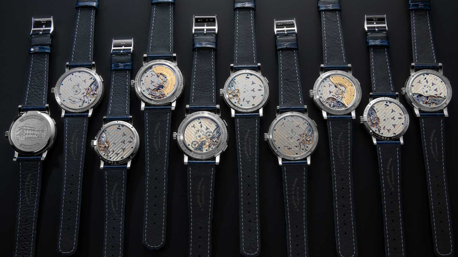 The complete Lange 1 25th Anniversary Collection from the back (Image © Revolution)