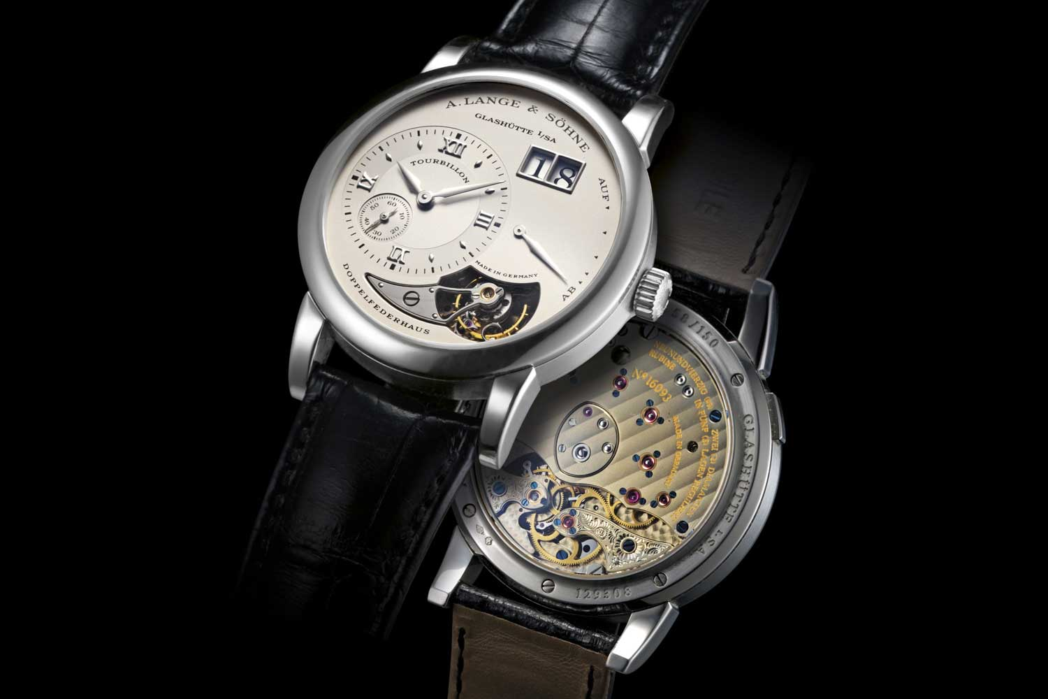 Lange 1 Tourbillon, reference 704.025 launched in 2000 (Image: christies.com)
